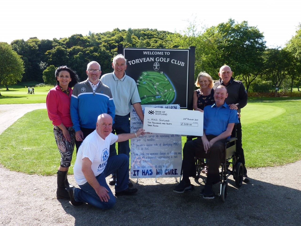 Inverness golf club raises £2,000 after member diagnosed